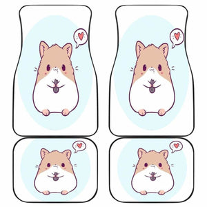 Cute Hamster Chibi In White Theme Car Floor Mats Universal Fit 051012 - CarInspirations