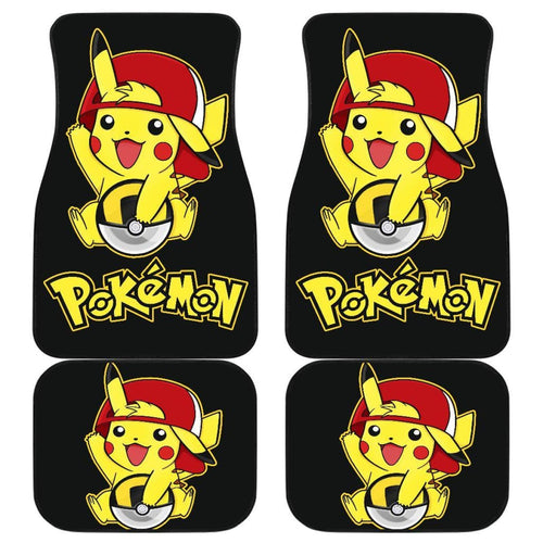 Cute Pikachu Car Floor Mats Pokemon Anime Fan Gift H200221 Universal Fit 225311 - CarInspirations