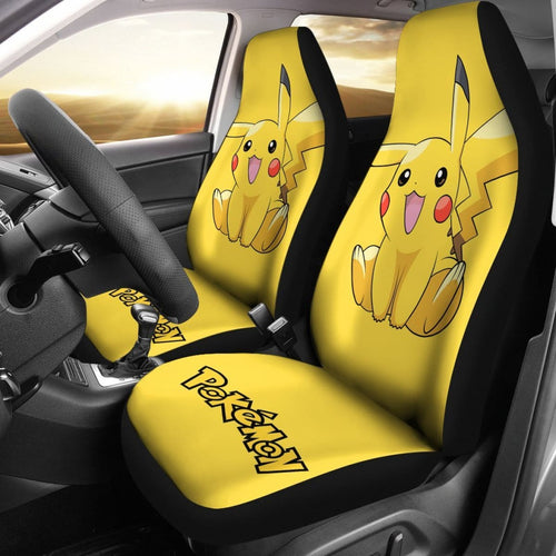 Cute Pikachu Car Seat Covers Pokemon Anime Fan Gift H200221 Universal Fit 225311 - CarInspirations