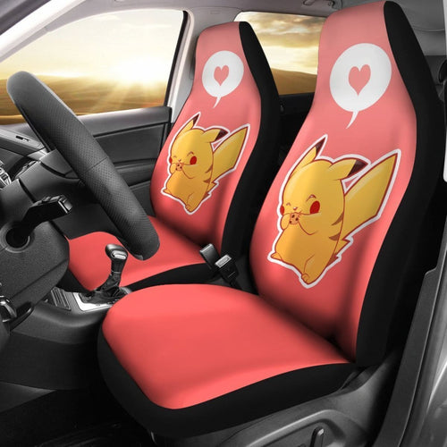 Cute Pikachu Hearts Pokemon Car Seat Covers Lt03 Universal Fit 225721 - CarInspirations