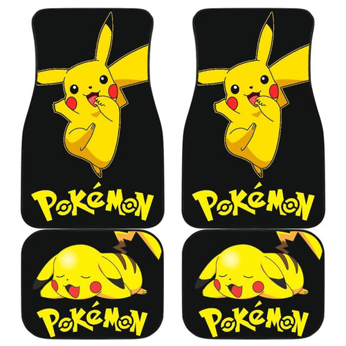 Cute Pikachu Pokemon Anime Fan Gift Car Floor Mats H200221 Universal Fit 225311 - CarInspirations