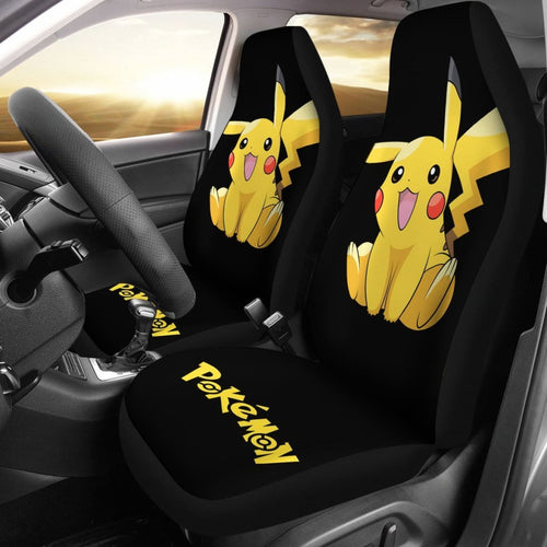 Cute Pikachu Pokemon Anime Fan Gift Car Seat Covers H200221 Universal Fit 225311 - CarInspirations