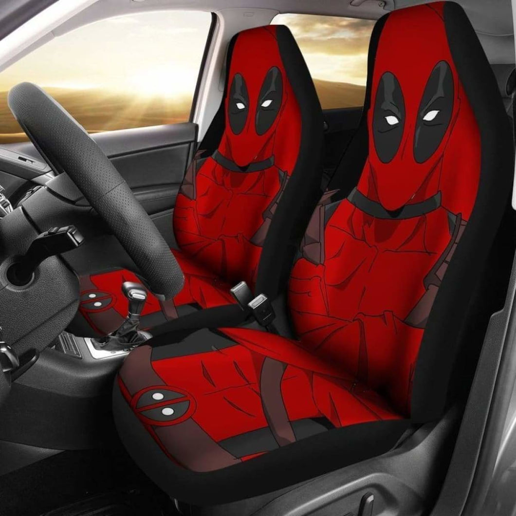 Deadpool Cartoon Marvel Car Seat Covers Universal Fit 051012 - CarInspirations