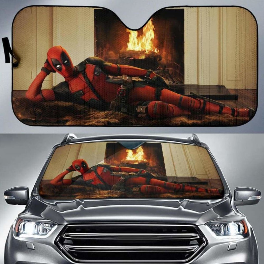 Deadpool Funny Auto Sun Shades 918b Universal Fit - CarInspirations