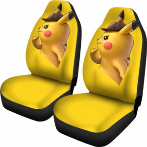 Detective Pikachu Car Seat Covers Universal Fit 051012 - CarInspirations