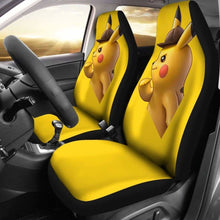 Load image into Gallery viewer, Detective Pikachu Car Seat Covers Universal Fit 051012 - CarInspirations