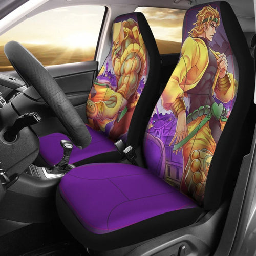 Dio Brando Car Seat Covers JoJo's Bizarre Adventure Universal Fit 210212 - CarInspirations