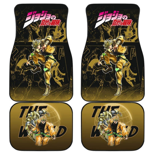 Dio Brando Jojo Bizarre Adventure Gyro Manga Checkerboard Style Car Floor Mats Anime Yellow Universal Fit 175802 - CarInspirations