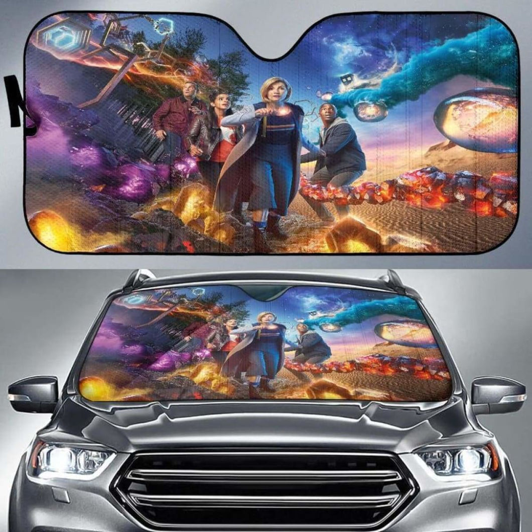 Doctor Who Car Sun Shades 918b Universal Fit - CarInspirations