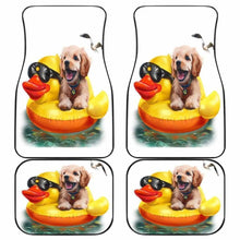 Load image into Gallery viewer, Dog And Duck Cute Funny Car Floor Mats Universal Fit 051012 - CarInspirations