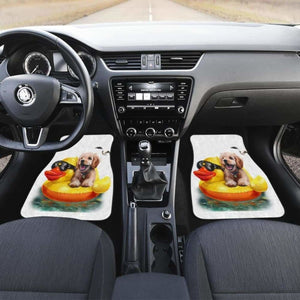 Dog And Duck Cute Funny Car Floor Mats Universal Fit 051012 - CarInspirations