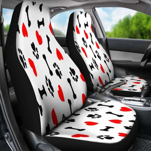 DOG LOVE CAR SEAT COVERS (Set of 2) Universal Fit - CarInspirations