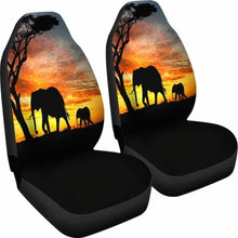 Load image into Gallery viewer, Elephant Sunset Car Seat Covers Universal Fit 051012 - CarInspirations
