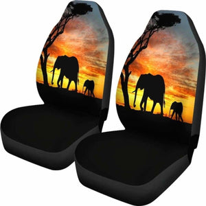 Elephant Sunset Car Seat Covers Universal Fit 051012 - CarInspirations