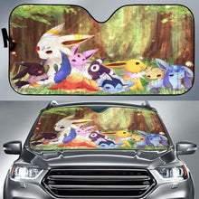 Load image into Gallery viewer, Eveelution Relax Pokemon Car Sun Shades 918b Universal Fit - CarInspirations