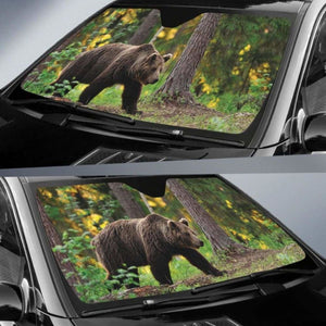 Forest Brown Bear Auto Sun Shades 918b Universal Fit - CarInspirations