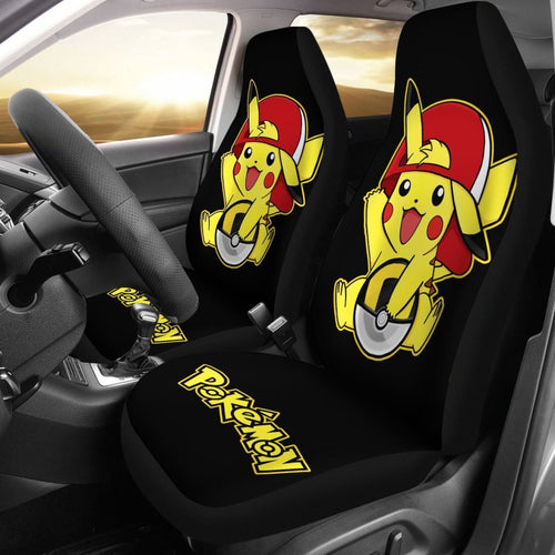 Funny Pikachu Car Seat Covers Pokemon Anime Fan Gift H200221 Universal Fit 225311 - CarInspirations