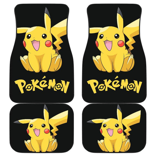 Funny Pikachu Pokemon Anime Fan Gift Car Floor Mats H200221 Universal Fit 225311 - CarInspirations