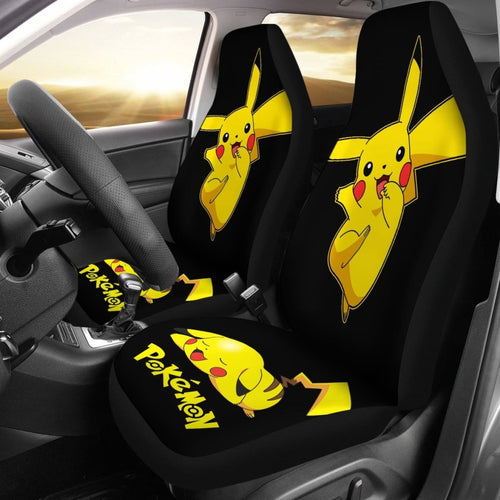 Funny Pikachu Pokemon Anime Fan Gift Car Seat Covers H200221 Universal Fit 225311 - CarInspirations