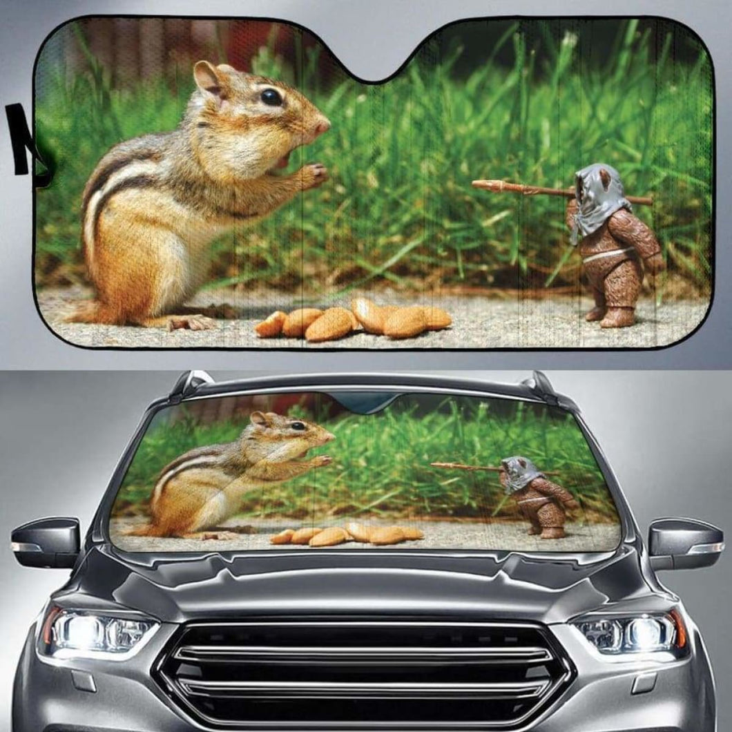 Funny Squirrel Car Sun Shades 918b Universal Fit - CarInspirations