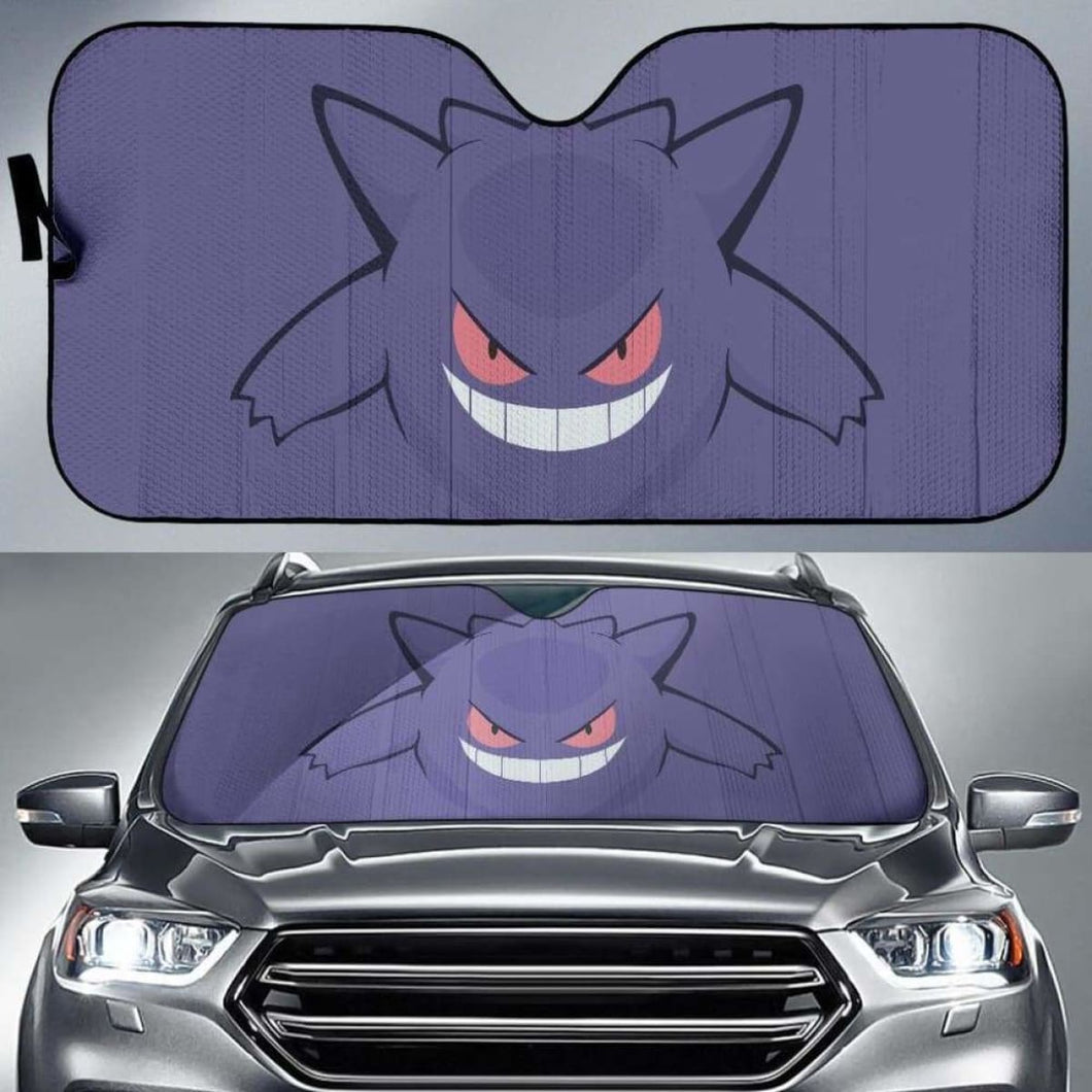 Gengar Pokemon Car Sun Shades 918b Universal Fit - CarInspirations