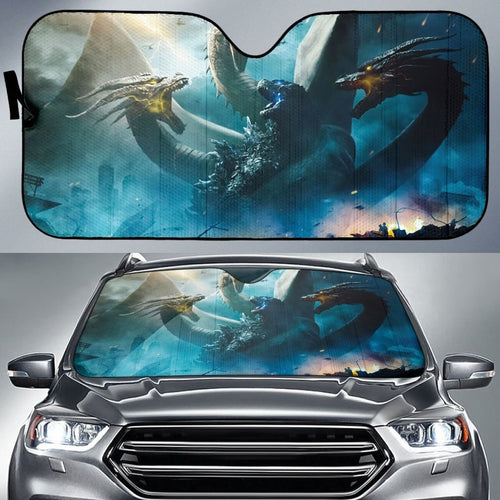Ghidorah Vs Godzilla Sun Shade amazing best gift ideas 2020 Universal Fit 174503 - CarInspirations