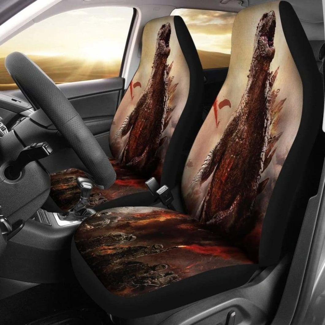 Godzilla 2019 Car Seat Covers 1 Universal Fit 051012 - CarInspirations