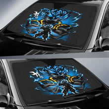 Load image into Gallery viewer, Gogeta Blue Dragon Ball Auto Sun Shades 918b Universal Fit - CarInspirations