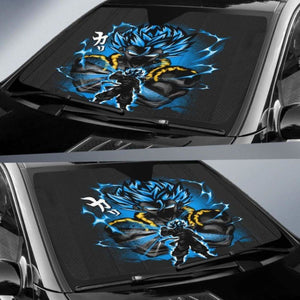 Gogeta Blue Dragon Ball Auto Sun Shades 918b Universal Fit - CarInspirations