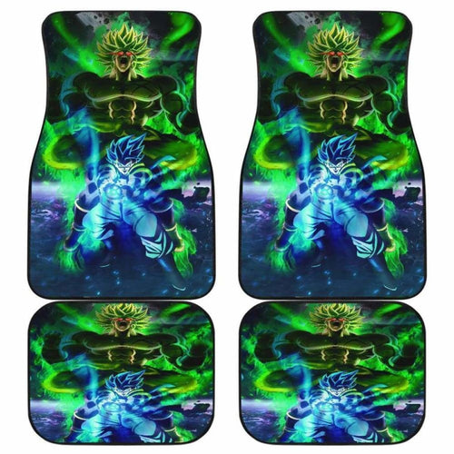 Gogeta Blue Vs Broly Car Floor Mats Universal Fit - CarInspirations