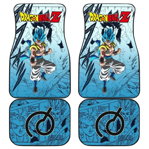 Gogeta Bue Dragon Ball Z Car Floor Mats Manga Mixed Anime Cool Universal Fit 175802 - CarInspirations