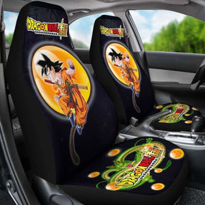 Goku Fighting Shenron Dragon Ball Anime Car Seat Covers 5 Universal Fit 051012 - CarInspirations