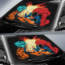 Load image into Gallery viewer, Goku Vs Superman Car Sun Shades 918b Universal Fit - CarInspirations