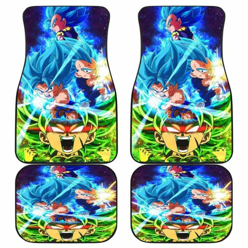 Goku Vs Vegeta gogeta Vs Broly Chibi Car Floor Mats Universal Fit - CarInspirations