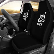 Load image into Gallery viewer, Good Vibes Only Car Seat Covers (Set Of 2) Universal Fit 051012 - CarInspirations