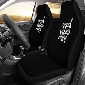 Good Vibes Only Car Seat Covers (Set Of 2) Universal Fit 051012 - CarInspirations
