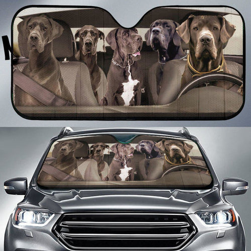 Great Dane Dogs 4 - Auto Sun Shade 111130 - CarInspirations