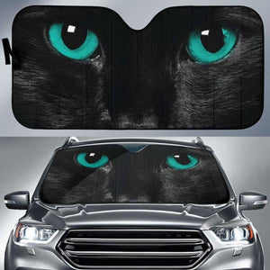 Green Cat Eyes Car Sun Shades 918b Universal Fit - CarInspirations