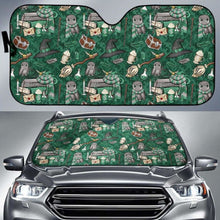 Load image into Gallery viewer, Harry Potter Green Auto Sun Shades 918b Universal Fit - CarInspirations