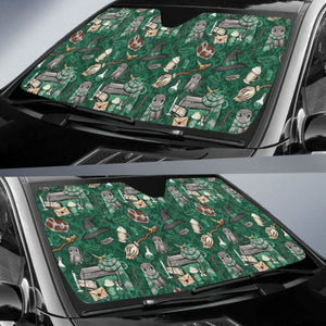 Harry Potter Green Auto Sun Shades 918b Universal Fit - CarInspirations