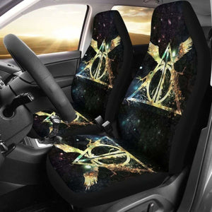 Harry Potter Logo Art Car Seat Covers Universal Fit 051012 - CarInspirations