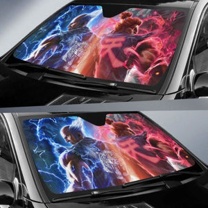 Heihachi Vs Akuma Street Fighter Car Sun Shades 918b Universal Fit - CarInspirations