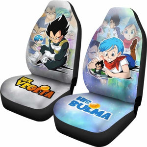 His Bulma Her Vegeta Dragon Ball Z Car Seat Covers Universal Fit 051312 - CarInspirations