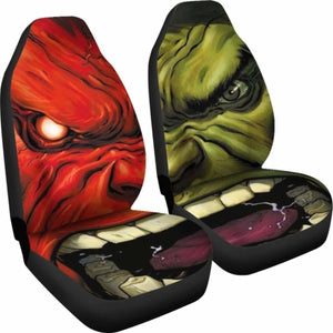 Hulk Cartoon Marvel Car Seat Covers Universal Fit 051012 - CarInspirations