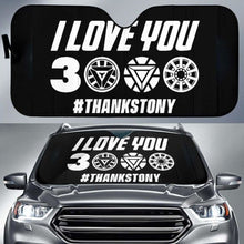 Load image into Gallery viewer, I Love You 3000 Thanks Tony Car Sun Shades 918b Universal Fit - CarInspirations