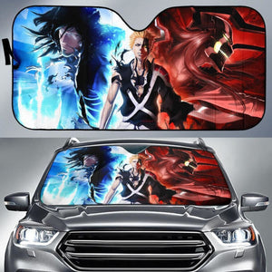 Ichigo Bleach Blue And Red Auto Sun Shade Nh06 Universal Fit 111204 - CarInspirations