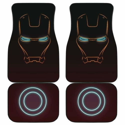 Iron Man Car Floor Mats 1 Universal Fit - CarInspirations
