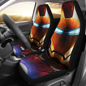 Iron Man Face Car Seat Covers Universal Fit 051012 - CarInspirations