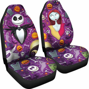 Jack Skellington Sally 2019 Car Seat Covers Universal Fit 051012 - CarInspirations