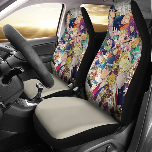 JoJo's Bizarre Adventure Car Seat Covers Manga Fan Gift Universal Fit 210212 - CarInspirations